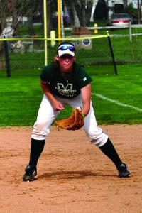 Mercyhurst College junior Michelle Schmitz is leading the Lakers with her .356 batting average.